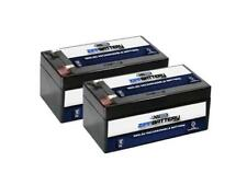 12V 3.2AH SLA Battery replaces wp3-12 bp3-12 pc1230 - 2PK