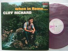 TEST PRESS RED VINYL / CLIFF RICHARD WHEN IN ROME / SHADOWS
