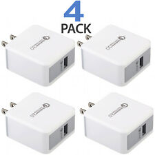 4x USB Wall Charger Fast Charge 3.0 For iPhone 8 X XS Samsung Galaxy S10+ S9+ LG
