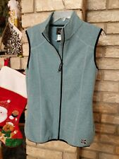 Hot Chillys Womens Sweater Vest Full-Zip Heather Green S