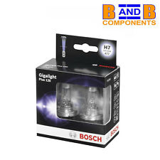 BOSCH H7 PLUS 120 GIGALIGHT HEADLAMP BULBS 477 12v TWIN PACK A1419