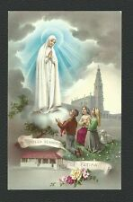 VINTAGE HOLY CARD PORTUGAL OUR LADY of FATIMA (apparition to 3 Shepherds)