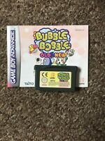 Bubble Bobble Old & New For Nintendo Game Boy Advance With Manual