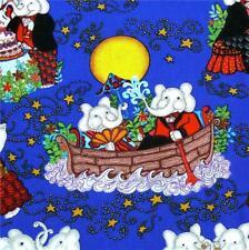 Indian Ganesha Chaturthi Celebration, Elephants! Children's Print, Per 1/2 Yd