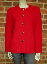 VINTAGE Cashmere e misto lana rosso Giacca Taglia UK 12 EU 38
