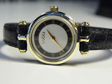 GUCCI 2000L CLASSIC 18K GOLD PLATED 6 JEWELLED SWISS MOVEMENT STACK-STYLE WATCH