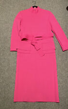 Scanlan Theodore Crepe Knit Dress (RRP new $600) Size Medium Hot Pink