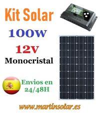 Kit placa panel solar 100w 12v monocristal + regulador 10ah.