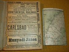 1907  Bradshaw's Continental Railway Steam Transit & General guide Europe + Map