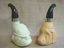 2 Vintage DOG PIPE AVON BOTTLES - BLOOD HOUND & BULL DOG