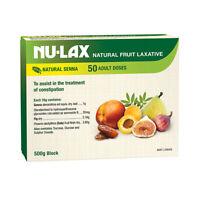 Nu-Lax Natural Fruit Laxative with Natural Senna Block 500g Digestion