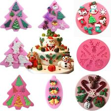 3D Christmas Silicone Mold Fondant Chocolate Sugarcraft Decorating Silikonform
