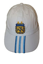 ARGENTINA WHITE WITH BLUE STRIPES AFA LOGO FIFA WORLD CUP EMBOSSED HAT CAP