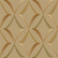 Modern Geometric in Gold, Copper and Green on Easy Walls Wallpaper MLV34015