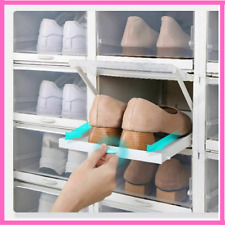 Shoe Box Transparent Foldable Drawer For Box Save Space Plastic Shoe Organizers