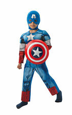 Captain America fancy dress children superhero age 5-6 years BNIP new