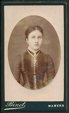 CDV c. 1900 - Jeune Fille Ph. Binet à Mamers - T909