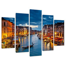 Split Lona 5 Piezas Azul Multi Panel cinco parte Venecia Italia 5068