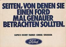 0449FO Ford Prospekt 1974 6/74 Posterprospekt Taunus Capri Consul Granada Auto