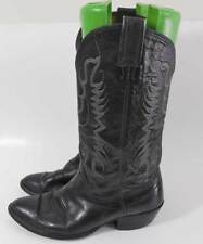 Vintage Nocona Texas Black Leather Western Cowboy Rodeo Boots 8D 41