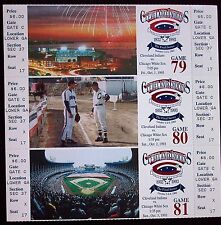 1993 Cleveland Indians / 3 Ticket Strip / Final Series / Major League Baseball