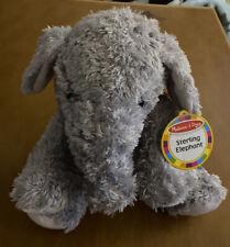 "Melissa & Doug Sterling the Elephant Plush 12"""