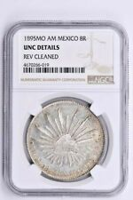 1895MO AM Mexico 8 Reales NGC UNC Details, REVERSE CLEANED Witter Coin