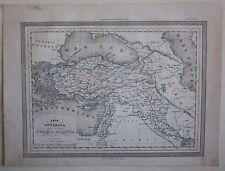 1864 ASIA OTTOMAN carte Guigoni Doyen Turquie Türkiye Syrie سوريا Irak العراق