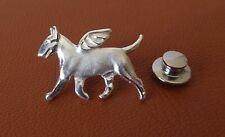 Sterling Silver Bull Terrier Angel Lapel Pin