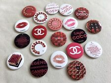 New Set of 20 pcs CHANEL Beauty Rouge PROMO BROOCH PIN BADGE *Rare & Collectible