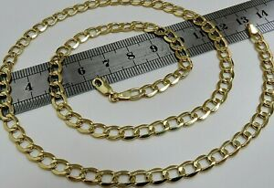 9ct Yellow Gold 20 inch Curb Chain - 5mm Width - Men's or Ladies