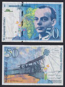France 50 Francs Saint-Exupéry 1993 BB / VF A-02