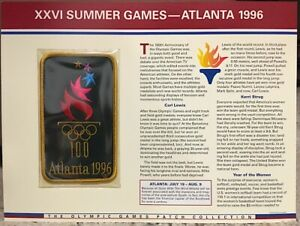 1996 SUMMER OLYMPICS XXVI Atlanta OLYMPIC GAMES PATCH INFO CARD Willabee & Ward