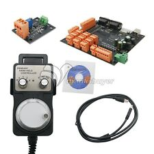 9 Axis CNC Controller Kit Stepper Motor Breakout Board +Handwheel+USB Cable+CD Z