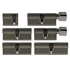 6x Door Cylinder Lock 1 9/16-3 5/32in Keyed Alike +5 Key