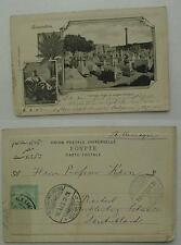 aegypte / egypten 1903 cimetiere arabe et colonne pompee