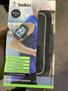 New! BELKIN Slim-Fit Plus Armband iPhone Holder 6/6s Running Gym Walking Biking