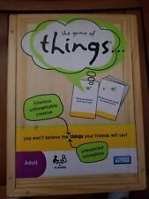 THE GAME OF THINGS - HILARIOUS - UNFORGETTABLE - CREATIVE GAME -- IN WOOD BOX