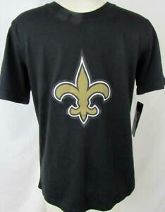 New Orleans Saints Youth M (10/12) L (14/16) Screened Logo T-shirt NOS 222