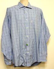 FACONNABLE Blue Check Dress Shirt - XL 17 1/2