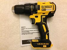 "New Dewalt DCD777B 1/2"" 20 Volt 20V Max Brushless Drill Driver Lithium Ion"