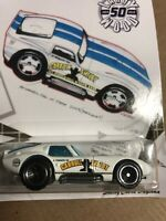 2019 HOT WHEELS LARRY WOOD 50TH ANNIVERSARY SHELBY COBRA DAYTONA