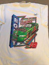 AUTOGRAPHED Vintage 1998 Bobby Labonte Nascar White Racing Shirt Size XL