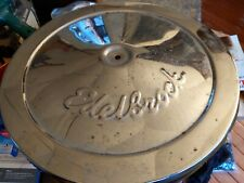 """Edelbrock Chrome 14"""" Round Air Cleaner with used Accel element street strip race"""