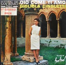 GIGLIOLA CINQUETTI DIO COME  TI AMO  EP 1966  Quasi neuf