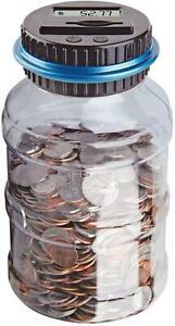 Supersized Digital UK Coin Counter Money Bank Saving Jumbo Bottle LCD Display