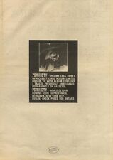 29/10/83PN21 ADVERT: PSYCHIC TV ALBUM DREAMS LESS SWEET & WORLD TOUR 15X11