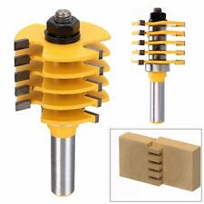 "Box Finger Joint Router Bit 1/2"" Shank 5 Blade 3 Flute Woodworking Cutter Tools"