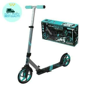 Madd Gear Kruzer 200 Folding Height Adjustable Commuter Scooter (Teal 200mm) – S