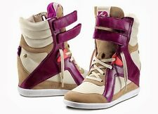 Reebok Women's Alicia Keys AK MID CUT WEDGE Sneaker Paper White Purple Size 7